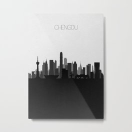 City Skylines: Chengdu Metal Print