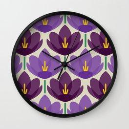 Crocus Flower Wall Clock