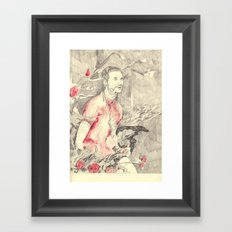 RiFF RAFF with ReD ROSeS Framed Art Print
