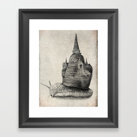The Snail's Dream (monochrome option) Framed Art Print