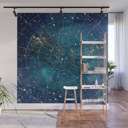 Star Map :: City Lights Wall Mural