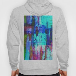 Electric Abstract - Textured, painting Hoody