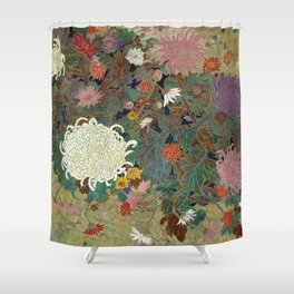 flower【Japanese painting】 Shower Curtain