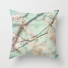 spring #3 (cool bleu) Throw Pillow