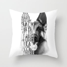 German Shepherd Quote Text Throw Pillow