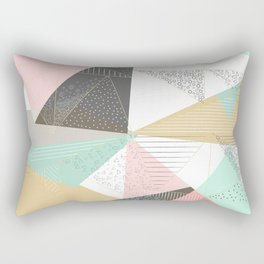 Stylish gold triangles geometric design Rectangular Pillow