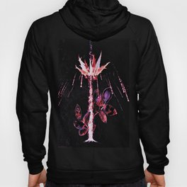 Abstract Fire Flower Hoody
