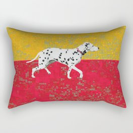 Dalmation in red and yellow Rectangular Pillow