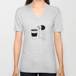 Coffee, First Unisex V-Neck