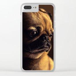 Cute Pug Dog Clear iPhone Case