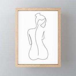 Back Line Framed Mini Art Print