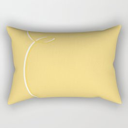Pastel Yellow Abstract #yellow #ribbon #abstract #pastel #kirovair #unicolored #homedecor Rectangular Pillow