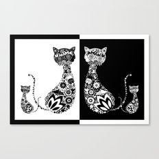 Cats Of Inversion - Digital Work Canvas Print