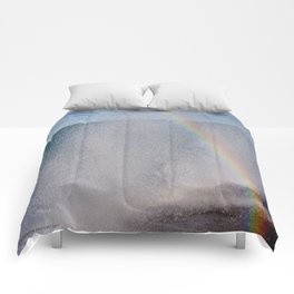 Lake Michigan Natural Fountains #5 - Sunbow (Chicago Waves Collection) Comforters
