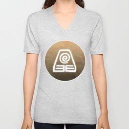 Avatar Earth Bending Element Symbol Unisex V-Neck