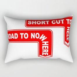 A Pair of Warning Signs Rectangular Pillow