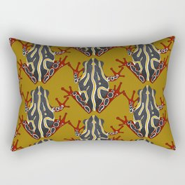 congo tree frog gold Rectangular Pillow