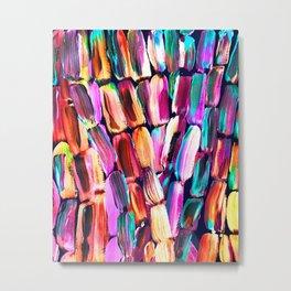 Neon Sugarcane Dark Metal Print