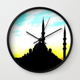 mosque in Istanbul Wall Clock