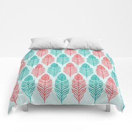 Peacock feathers Comforters