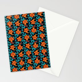 Pattern with lilies Stationery Cards