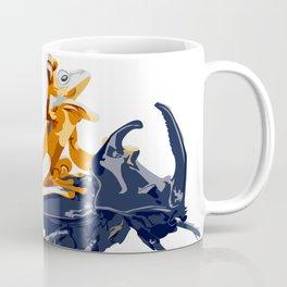 Cute Frog on a Beetle's back - funny meme art  Coffee Mug