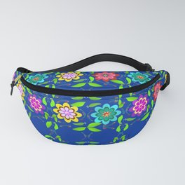 Pretty Flowers in a Row Fanny Pack