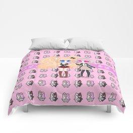Hope vs Despair (Pink Ver.) Comforters