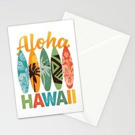 Retro Hawaiian Surfboard Aloha Hawaii Stationery Cards