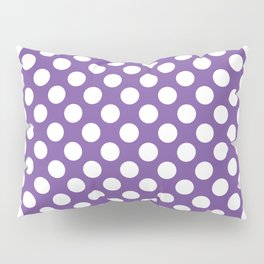 White Polka Dots with Purple Background Pillow Sham