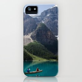 Canoeing On Moraine Lake iPhone Case