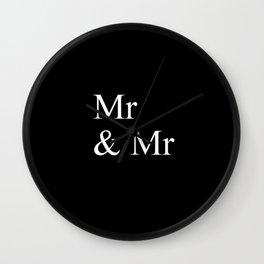 Mr & Mr Monogram standard Wall Clock