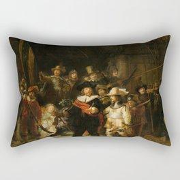 Rembrandt van Rijn - Nightwatch - Nachtwacht (1642) Rectangular Pillow