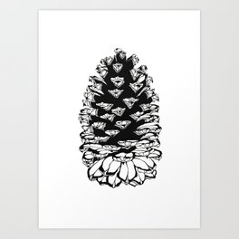 Giant pinecone Art Print