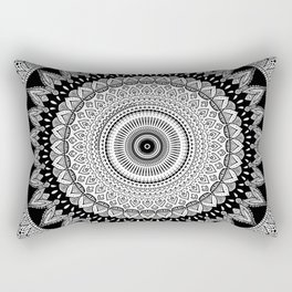 Black and White Mandala Two Rectangular Pillow