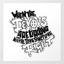 Demon Quote Art Print