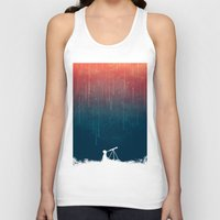shower Tank Tops featuring Meteor rain by Picomodi