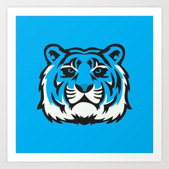 Blue Tiger Art Print