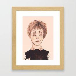 Mrs Foureyes Framed Art Print