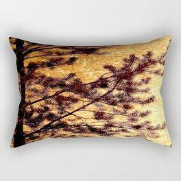 Pine Silhouette at Sunset #decor #society6 Rectangular Pillow