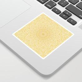 Most Detailed Mandala! Yellow Golden Color Intricate Detail Ethnic Mandalas Zentangle Maze Pattern Sticker