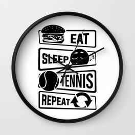 Eat Sleep Tennis Repeat - Rackets Ball Sports Wall Clock