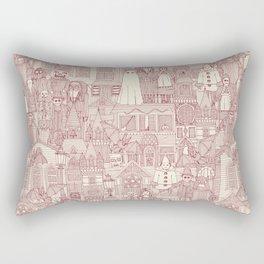 vintage halloween claret ivory Rectangular Pillow