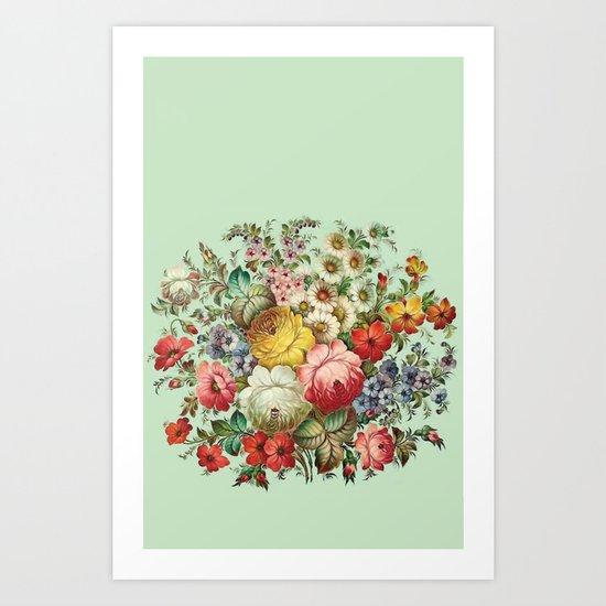 Russian Flowers Art Print