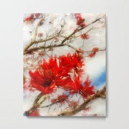 Coral Tree Winter effect Metal Print