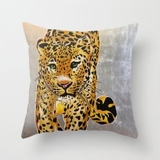 Jaguar Pachamama Throw Pillow