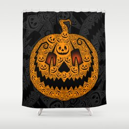 Jack of 1,000 Faces Shower Curtain