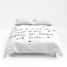 Words Comforters