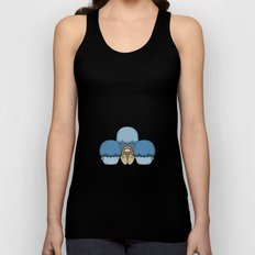 Cute Monster With Blue Frosted Cupcakes Unisex Tank Top