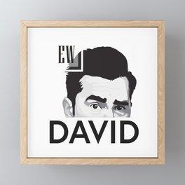 EW DAVID Retro Vintage Framed Mini Art Print